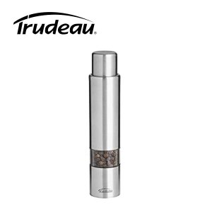 Trudeau 6 Inch Stainless Steel One-Hand Pepper Mill