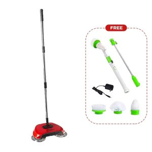 Roto Sweep + Spin Scrubber
